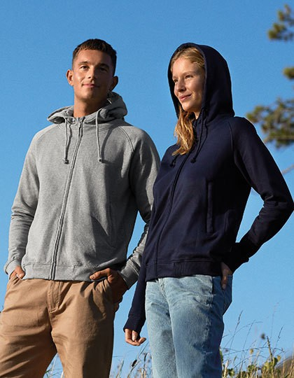 Neutral Unisex Hoodie with Hidden Zip 6 Farben