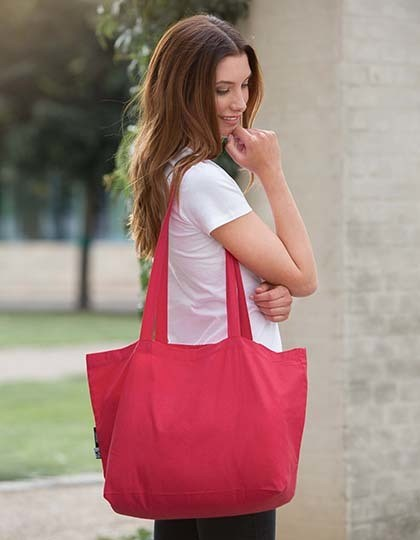 Neutral Shopping Bag with Gusset in 5 Farben