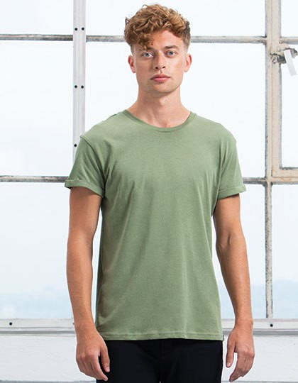 Mantis Men`s Roll Sleeve T-Shirt in 6 Farben