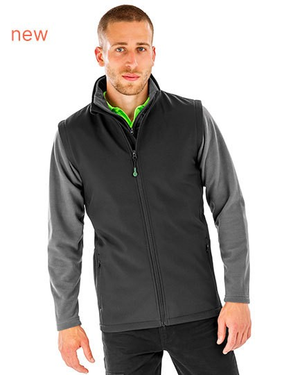 Result Mens Recycled 2-Layer Printable Softshell Bodywarmer in 2 Farben