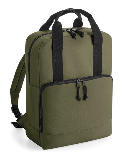 Recycled Twin Handle Cooler Backpack Military Green