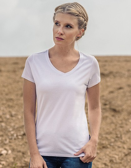 HRM Women´s Luxury V-Neck Tees 6 Farben