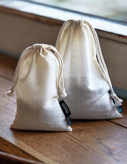 Neutral Cotton Bag with Drawstrings 5 Stück in 3 Größen
