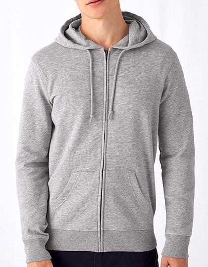 B&C Organic Zipped Hood Jacket 10 Farben