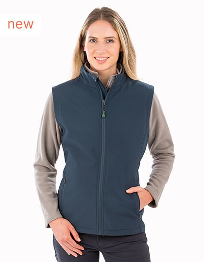 Result Womens Recycled 2-Layer Printable Softshell Bodywarmer in 2 Farben