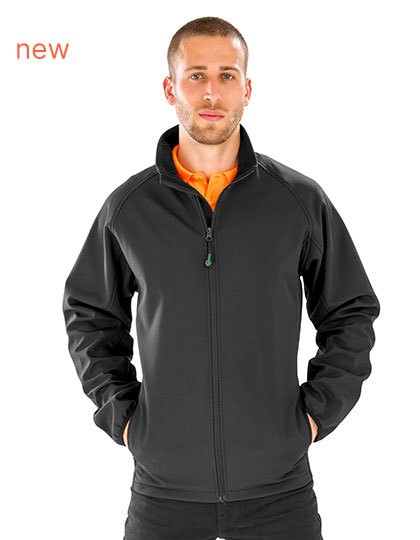 Result Mens Recycled 2-Layer Printable Softshell Jacket in 2 Farben