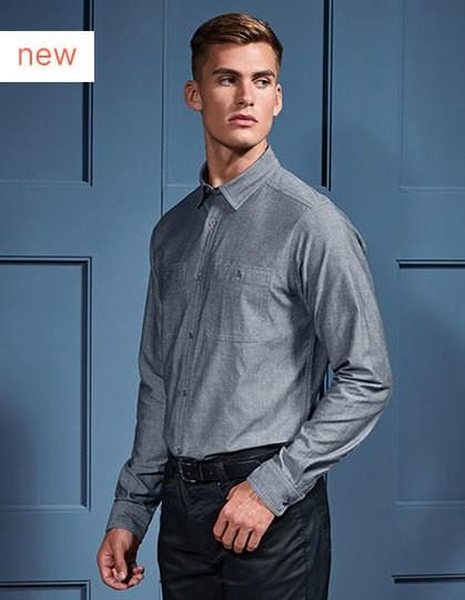 Men`s Organic Chambray Fairtrade Long Sleeve Shirt in 2 Farben