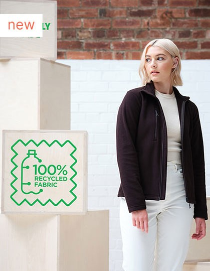 Honestly Made Recycled Womens Full Zip Fleece in 2 Farben