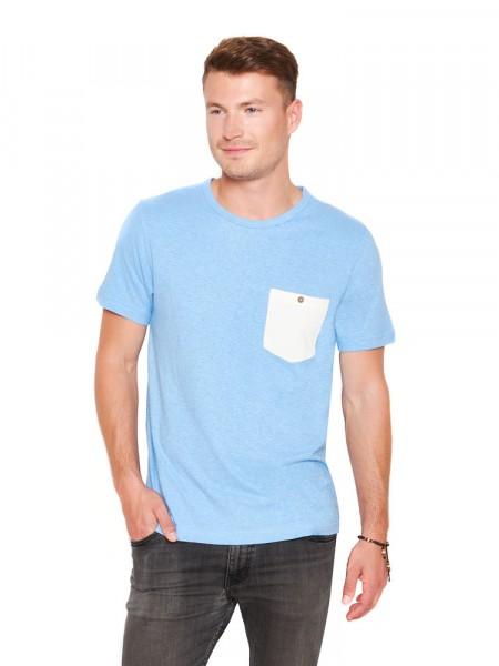 The Hemp Line T-Shirt mit Brusttasche