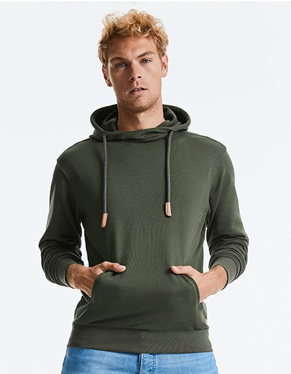 Russel Pure Organic High Collar Hooded Sweat 8 Farben